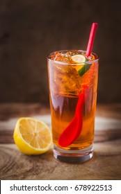 Thai Iced Tea, Lime, Ice tea orange, Asian cuisine, cold, beverage, culture food, tea in cup, straw, lemon