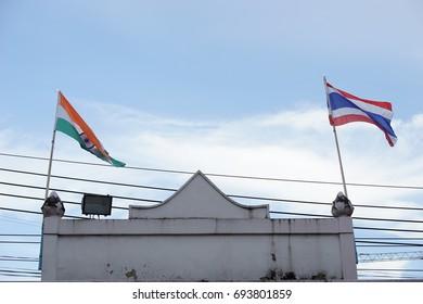 Thai India Flag , Indian community in Bangkok,Thailand