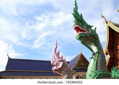 Thai King of Nagas Statue
