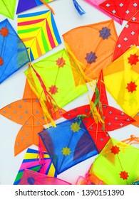 Thai kites colorful patterns art
