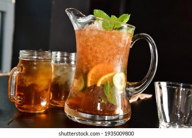 Thai Lemon Iced Tea (Cha Ma-Now)