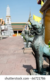 Thai Leo statue in Thailand Temple