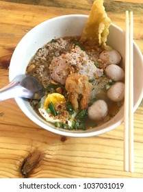 "Thai local food Tomyum noodle ""Sen lek Tumyum"""