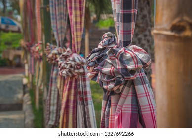 Thai loincloth, Loincloth fabric, traditional loincloth made from Thailand silk, Plaid Check Fabric loincloth Thai Style-ART