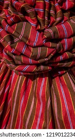 Thai loincloth loincloth, Thai style plaid cloth decorated with beautiful Thai fabric.