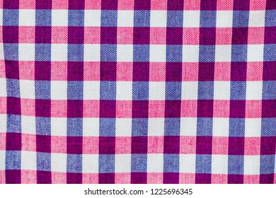 thai loincloth, texture of colorful checker cloth, abstract background concept