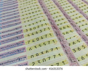 Thai lottery tickets