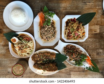 Thai lunch or dinner is a rich flavor food.