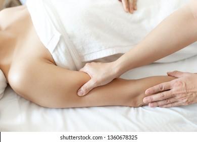 Thai massage body care arm massage and spa treatments at beauty spa salon