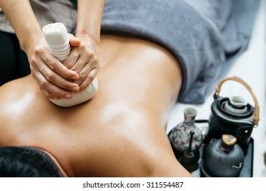 Thai massage series : Back and shoulder massage