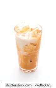 thai milk tea isolated on white background