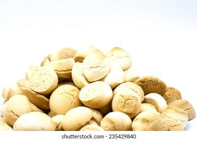 Thai Mini Cookie on white background