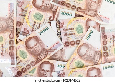 Thai money 1000 baht , thai bank note background.