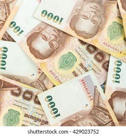 Thai money 1000 baht , thai bank note background.