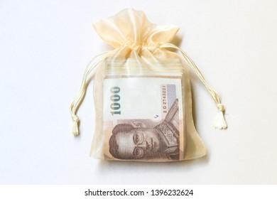 Thai money in the bag