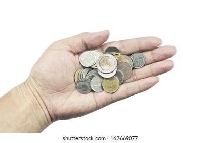 Thai money in your hand
