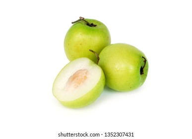 Thai monkey apple on white background.With Clipping Path.