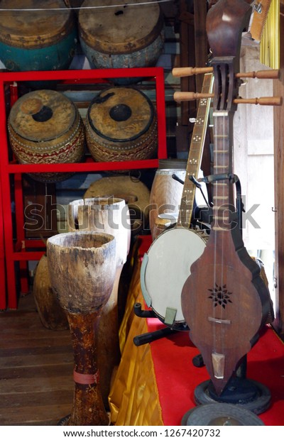 Thai musical instruments.