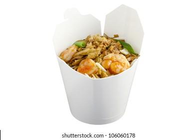 Thai noodle Pan Thai in wok meal package