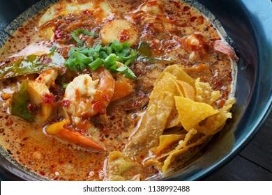 Thai noodle Tomyam spicy soup