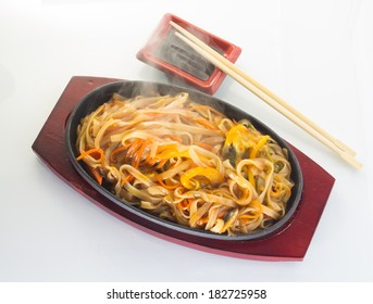 Thai noodles with vegetables