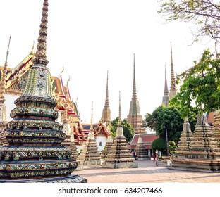 Thai Pagodas in Wat Po Temple