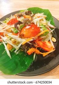 Thai papaya salad with crab