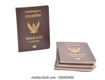thai passport isolated on white background
