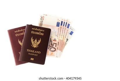 thai passports with euro money