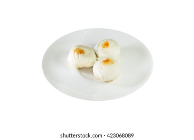 Thai Pastry on dish isolated with clipping path
