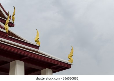 Thai pattern gable apex