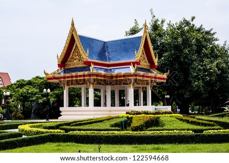 Fall Comes To Garden Of Thai Pavilion >> Thai Pavilion Garden Muang Thai Temple Ang Thong Stock Photo Edit