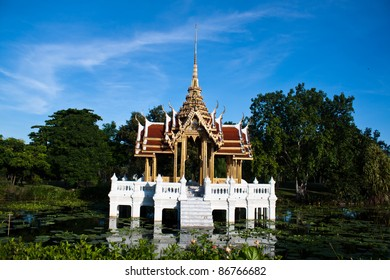 Thai Pavilion on the lake.