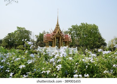 Thai pavilion public park, Bangkok, Thailand. Location in public area