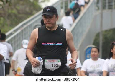 Thai PBS Mini marathon 2 Bangkok, Thailand, February 26, 2017.