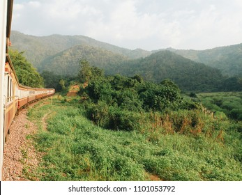 Thai railway hill view in Phrae