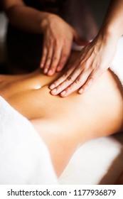 Thai relaxing stomach massage
