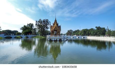 Thai Royal Residence at Bang Pa-In Royal Palace in Ayuthaya, Thailand .