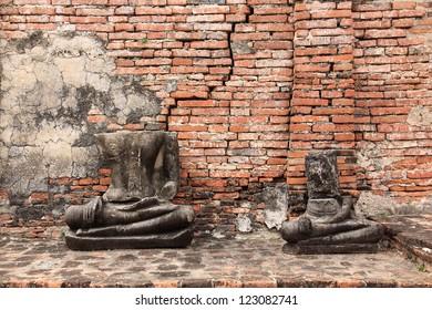 Thai Ruined Buddha Statue in Ayutthaya