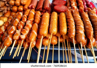 Thai sausages which are Thailand street foods