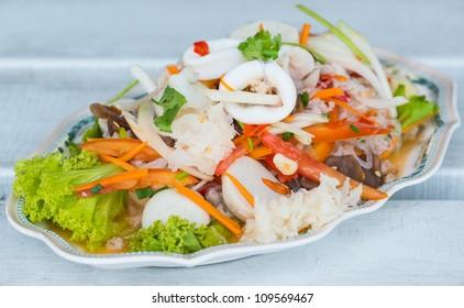 Thai seafood spicy salad