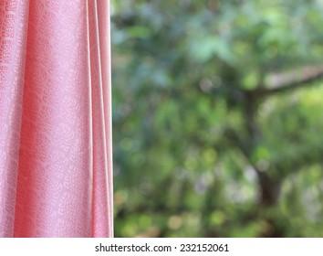 Thai silk Luxury ornamental drapery Romantic silky pink abstract background