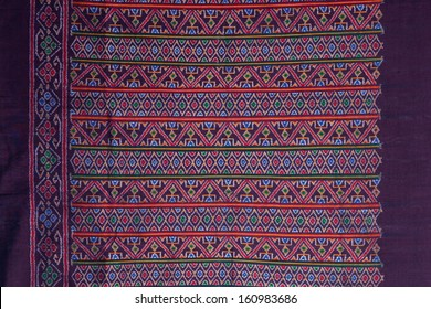 Thai silk motif pattern.