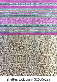 Thai silk textile pattern from Handmade