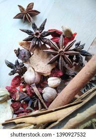 Thai spice ingredients, Thai food ingredients or Thai food flavoring ingredients
