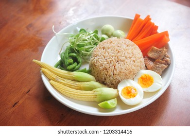 Thai Spicy Shrimp Paste Fried Rice.Thai food.