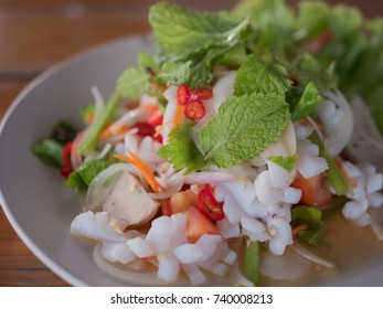 Thai spicy and sour seafood salad.
