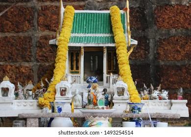 Thai spirit house ; shrine of the household god ; joss house
