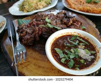 thai steak with hot sauce