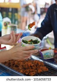 Thai street food vendor in thailand
